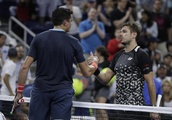 The Latest: 2016 US Open champ Wawrinka ousted by Raonic