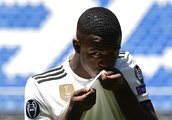 Welcome to Madrid! Real forward Vinicius Junior is bitten on the head by Atletico rival