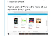 Nintendo Appears to Leak the Name of the Yoshi Switch Game