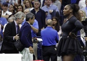 The Latest: Serena's coach critical of chair umpire's action