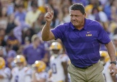 LSU's Orgeron could secure footing with win at Auburn
