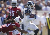 Gurley, Goff lead Rams' rout of Cardinals