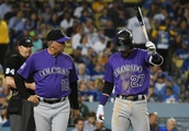 Rockies' Story exits due to elbow soreness