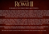'Total War Rome II' Won't Remove Female Generals Despite Bad Reviews and Backlash