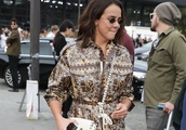 Pauline Ducruet Leaving the Valentino Show During Paris Fashion Week