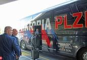 Viktoria Plzen arrive in Rome