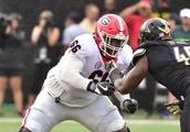 Georgia Starting OG Solomon Kindley Questionable for LSU Game