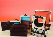 The Intrepid 4x5 enlarger turns any 4x5 camera into an enlarger and doubles as a negative scanner