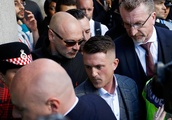 Army investigating Tommy Robinson's photo op with troops, activist vows support for 'British heroes