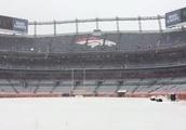 Broncos stadium becomes winter wonderland