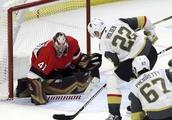 Carrier scores game-winner, Golden Knights top Senators 5-3