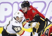 Flames race to seven-goal lead, defeat Golden Knights 7-2