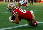WR shuffle: 49ers' Taylor sidelined with back issue; Goodwin feeling better