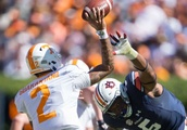 Tennessee Upsets No. 21 Auburn as Jeremy Pruitt Gets First SEC Win