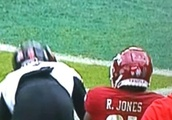 Temple WR Spotted Sticking Hand Far up Cincinnati Player's Junk