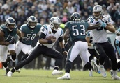 Eagles back to underdogs after 21-17 loss to Panthers