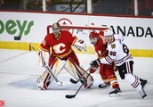 Blackhawks Flames Hockey