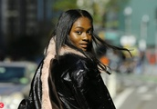 Model Zuri Libby leaves at Victoria's Secret headquarters for fittings in New York City, New York o