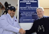 Wilton's Franey Donovan honored with plaque at press box