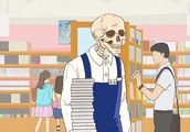 Skull-face Bookseller Honda is a hilarious anime looking into retail life