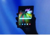 Samsung just gave us a first look at its foldable smartphone display