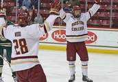 Boston College Men's Hockey takes down Vermont 3-2