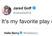 Jared Goff Shoots His Shot With Halle Barry After She Asks Why Audible is Named After Her