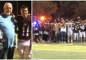 Rival High School Football Teams Join in Prayer After Player's Grandma Collapses in the Stands