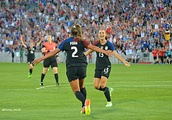 Colorado's Mallory Pugh connects with Alex Morgan to lift the USWNT over Scotland