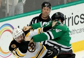 Recap: Shorthanded Bruins earn a point, but lose 1-0 in Dallas