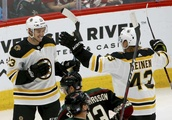 Karlsson, DeBrusk give Bruins 2-1 win over Coyotes