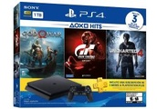 Get a PS4 Slim with God of War, GT Sport, and Uncharted 4 for $384.99 and settle down with Sony's gr