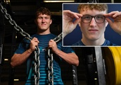 Call me SuperTed... I turn into a beast when I take my glasses off! England rookie Ted Hill on his C