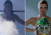 Russian athletes strip off to reveal 'natural truth' of life in sport