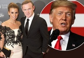 Wayne Rooney and Coleen celebrate Christmas with Donald Trump at White House party