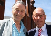 Queenstown Lakes mayor Jim Boult makes friends with music legend Roger Hodgson