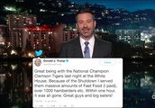 Jimmy Kimmel Roasts Trump's 'Hamberders' Tweet: 'How Does That Happen?'