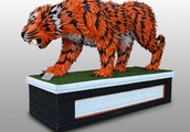 I Used Over 4,000 Individually Cut Tires to Create This Clemson Tiger Mascot for the National Champi