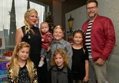 Tori Spelling's husband lashes 'fans' who called children fat and shabbily dressed