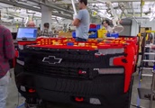 Watch builders construct a life-size Chevy truck with 300,000 LEGO bricks