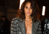 Cindy Bruna goes braless at the Balmain Menswear Fall/Winter 2019-2020 Show in Paris