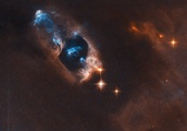 NASA posts image of ghostly blue objects, deep in the cosmos