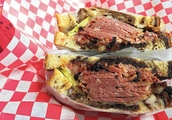 Pastrami sandwich at Dillman's Pastrami Shop