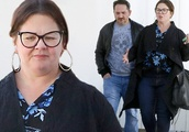 Melissa McCarthy and husband Ben Falcone coordinate in denim during casual outing in Los Angeles