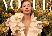 Grace Elizabeth goes in bloom for Vogue Russia April 2019