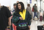 EXCLUSIVE: Singer, Teyana Taylor looks very tired with a custom $4,000 Goyard Tote only hours after