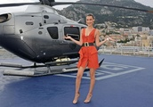 Bella Hadid bares cleavage at the Tag Heuer dinner in Monaco