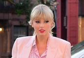 Taylor Swift's 5-Inch Pink Heels and Shimmery Shorts Are a Head-Turning Combo at Song Release Party