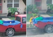 After Family Is Called 'Lazy' And 'Poor' Over Makeshift Pool, Stranger Shows Up With A Real One