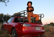 YouTuber known for 'shitty robots' turns Tesla Model 3 into pickup truck